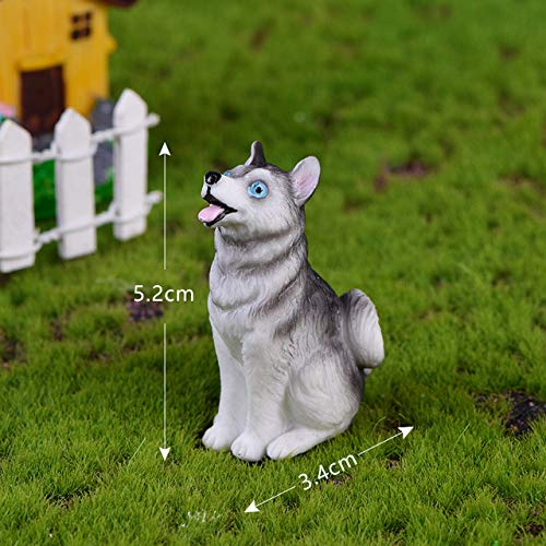 HUANLEGOU Adornos Esculturas Regalo DIY Relajado Perro Husky Animal Figuritas Decoración para...