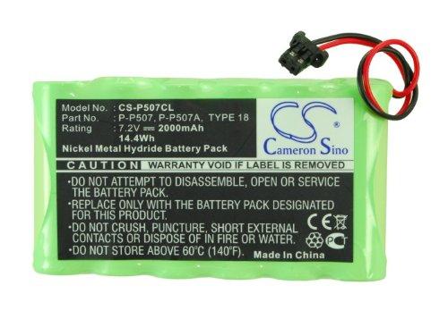 C & S 2000mAh P-P507 Battery Panasonic KX-TG4000B Backup 2.4 GHz 2-Line Cordless Phone