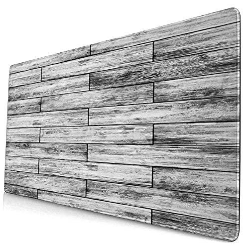 Nettes Mauspad ,Rustikaler Parkett-Holz-Retro-Druck,Rechteckiges rutschfestes Gummi-Mauspad für den Desktop, Gamer-Schreibtischmatte, 15,8