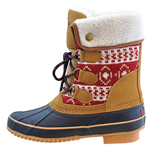 Khombu womens Boots Snow Shoe, Red, 8 US