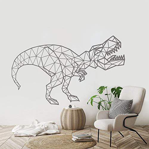 mlpnko Geometrisches DekorT-Rex Dinosaurier Wandaufkleber Vinyl Boy Kinderzimmer Dekor , 57x106cm