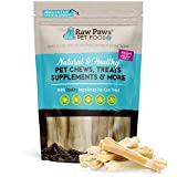 Raw Paws Pet Premium 4-inch Compressed Rawhide Bones for Dogs, 10-Count - Packed in USA - Small Dog Bones - Puppy Bones - Long Lasting Dog Chews - Natural Pressed Rawhides - Beef Hide Bones