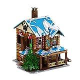 Casa de Navidad con chimenea de vapor, luz y música, compatible con Lego Technik – 3693 piezas