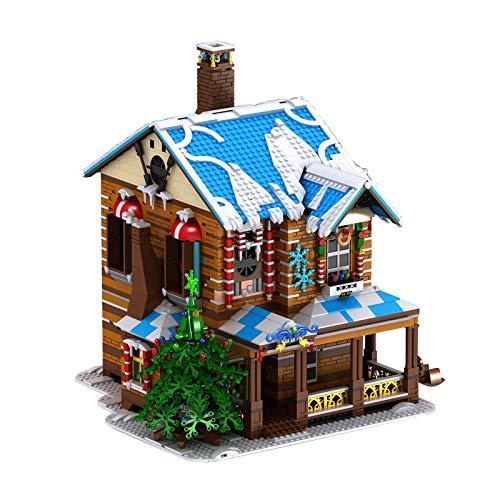 PEXL Weihnachten Haus, Lebkuchenhaus Modell mit Lichter, Musik, Dampfkamin, 3693 Teile Weihnachten 2020 Bauset Kompatibel mit Lego