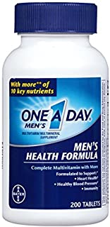 One-A-Day Multivitamin, Men's Health Formula , 200 Tablet Bottle - Buy Packs and SAVE (Pack of 2)