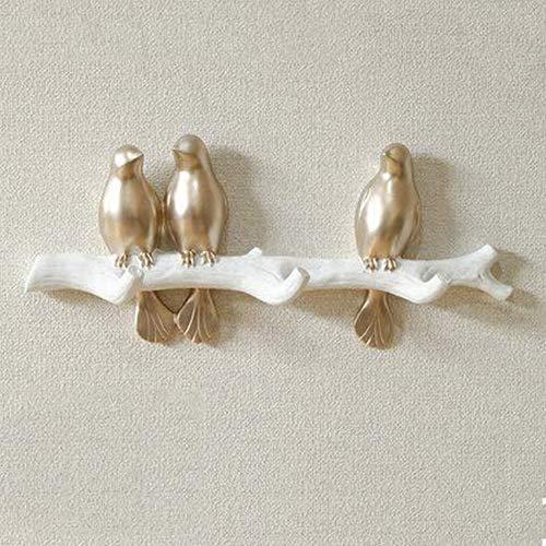 Perchero De Pared Pájaros En Rama Rama Animal Decoración De Pared Ganchos para Abrigos Sombreros Llaves Toallas Perchas De Ropa 4