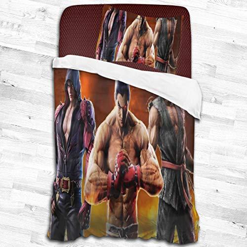 Te-Kken 7 Duvet Cover Set, Decorative 2 Piece Bedding Set with 1 Pillow Sham, Twin Size 55'X83'