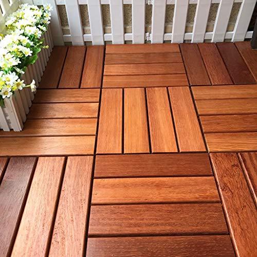 Dicke Qualität wasserdichter Boden 30 * 30cm 6pcs Garten und Hof dekorative Fliese Parkett Mosaikboden Balkon Terrasse Außendekoration