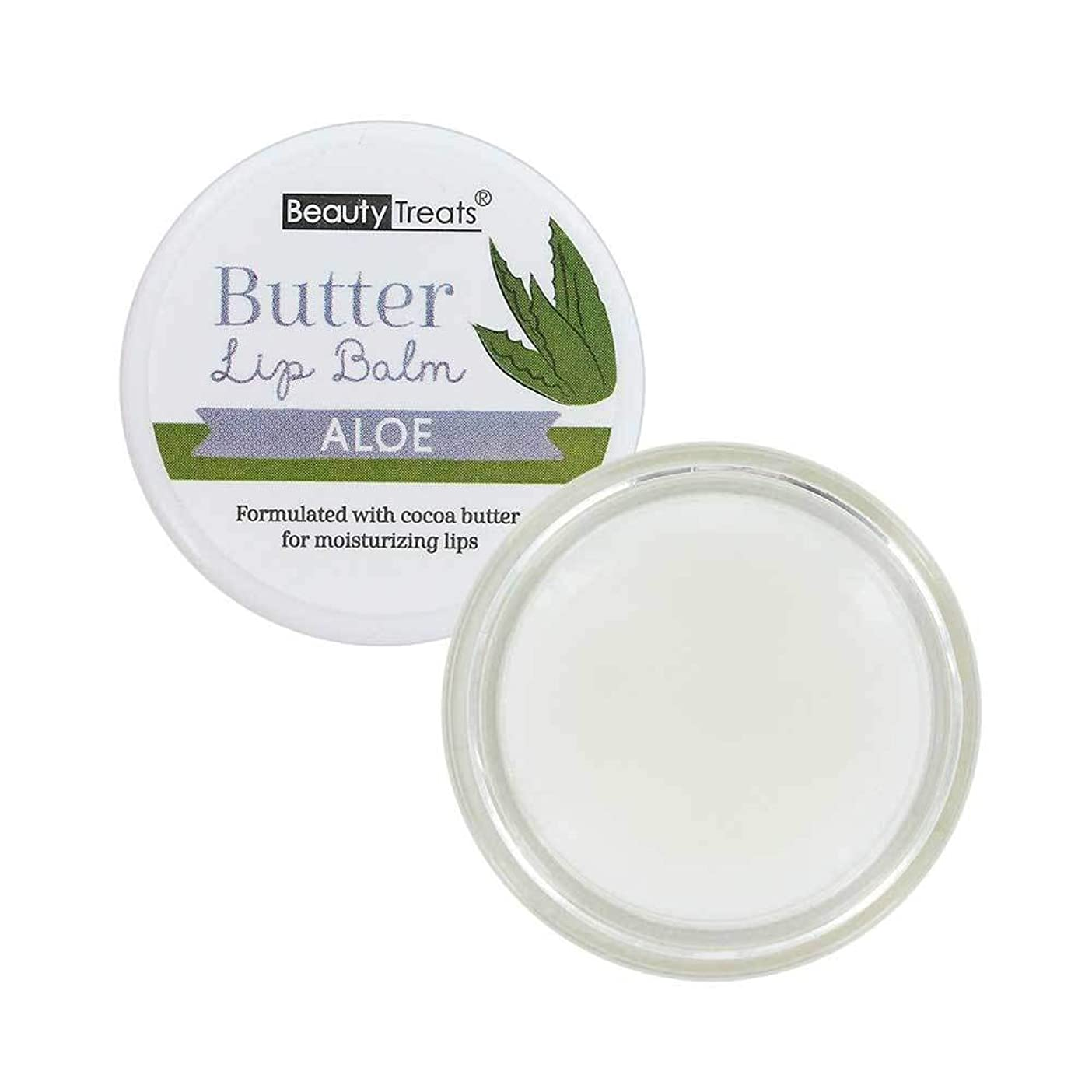 アクセル有利重要性BEAUTY TREATS Butter Lip Balm - Aloe (並行輸入品)