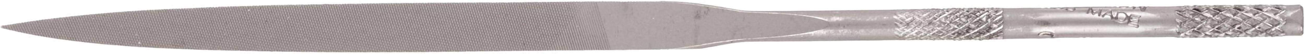 "Nicholson Needle File with Handle, Swiss Pattern, Double Cut, Knife, #2 Coarseness, 4"" Length"
