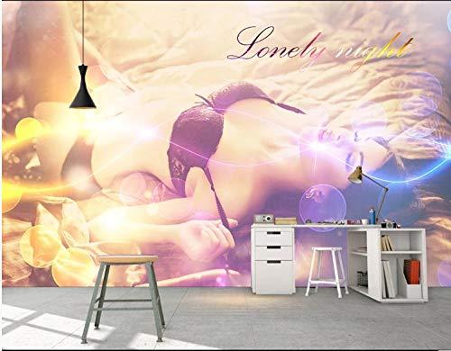 Fototapete 3D Effekt Wand Dekoration Vlies Tapete Moderne Dekoration Wanddeko Wandbilder 250X175Cm Einfache Sexy Schönheit Hotel Nachtclub Ktv Hintergrundwand