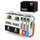 JARBO Compatibile HP 920 XL Cartucce d'inchiostro Alta Capacità Compatibile con HP Officejet 6000 6500 7000 7500 E709 Stampante (2 Nero,1 Ciano,1 Magenta,1 Giallo)