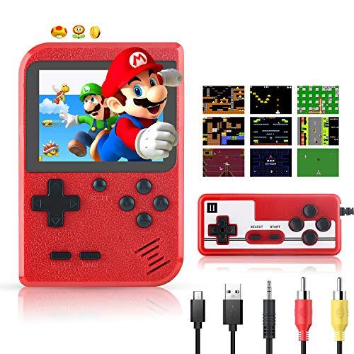 Handheld Spielekonsole Xpassion Retro Mini Game Player mit 400 klassischen FC-Spielen 2,8-Zoll-Farbbildschirm-Unterstützung für die Verbindung von TV und zwei Spielern