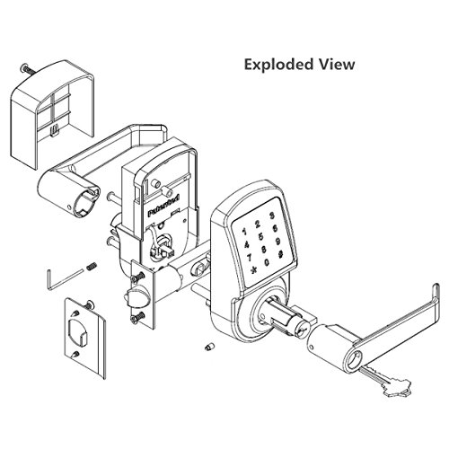 Ardwolf AL3 Electronic Keyless Smart Door Lock, Touchscreen Lever with Auto Lock