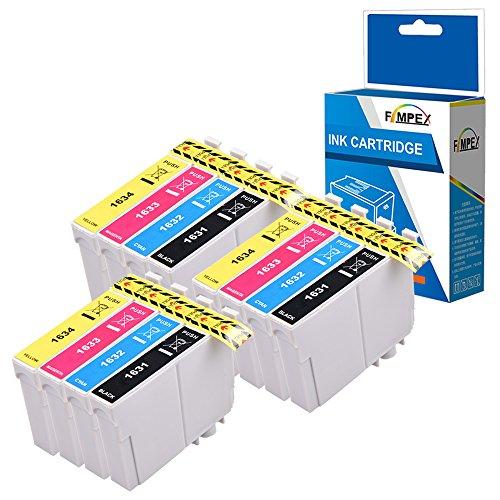 Fimpex Compatible Inchiostro Cartuccia Sostituzione Per Epson WorkForce WF-2010W WF-2510WF WF-2520NF WF-2530WF WF-2540WF WF-2630WF WF-2650DWF WF-2660DWF WF-2750DWF WF-2760DWF 16XL (B/C/M/Y, 12-Pack)