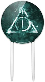 GRAPHICS & MORE Acrylic Harry Potter Deathly Hallows Logo Cake Topper Party Decoration for Wedding Anniversary Birthday Graduation
