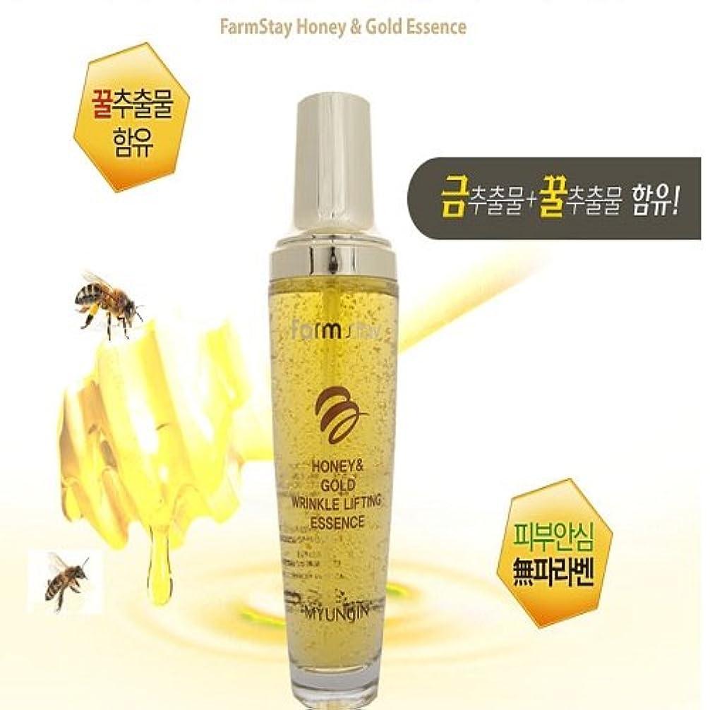 こだわりマルクス主義めんどり[FARM STAY] Honey & Gold Wrinkle Lifting Essence 130ml
