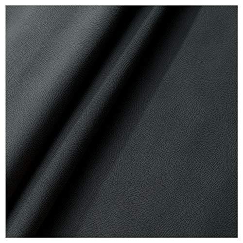 LILAMP Tela de Imitación de Cuero 100cm X 145cm Tecnología Material de la Tela Sofá Tela Funda de Cojín Tapicería Material Texturizado - Gris Oscuro(Size:1.45x10m)