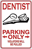 PotteLove Dentist Parking Only Decal vinile adesivo decorativo per computer portatile, frigorifero, chitarra, auto, moto, casco, bagagli, decorazione, 15,2 cm di larghezza