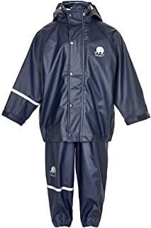CeLaVi - Kids Rain Suit - Reflective Waterproof 2 Pcs Jacket and Pants/or Dungarees Age 2T to10Y - 23 Colors