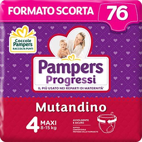 Pampers Progressi Mutandino Maxi, 76 Pannolini, Taglia 4 (8-15 Kg)