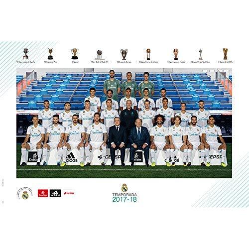 Grupo Erik Editores GPE5182 - Poster 2017/2018 con diseño Real Madrid Plantilla, 61 x 91.5 cm