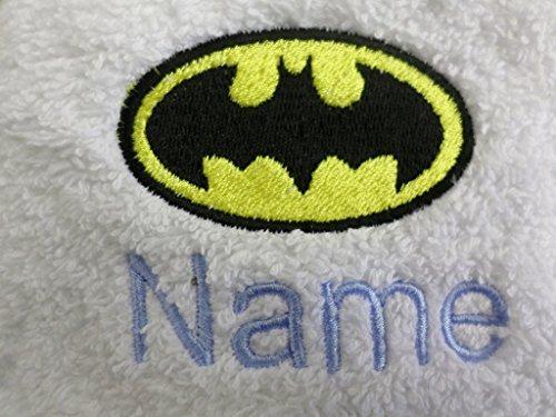 Adultos albornoz con un BATMAN Logo y nombre de su elección