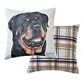 Viceni Rottweiler-Cojín para Perro (43 x 43 cm), Multicolor, 43 x 43cm