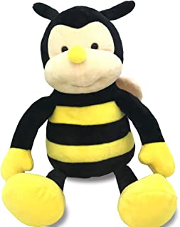 Garden Buzz Cuties Plush Nana The Bee with Smile Face and Yellow Wings Bumblebee Animal Shaped Soft Toy Present for Children 12 inch Head to Toe