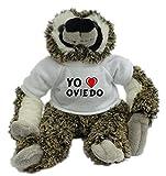Bradypus de peluche con Amo Oviedo en la camiseta (ciudad / asentamiento)