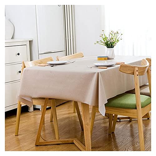 BaiHogi Mantel desechable Rectangular CLORURO DE POLIVINILO Mantel Mantel con Mantel Lateral de Borla Adecuado para la decoración de la Cocina del hogar