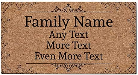 Custom Name Gifts Personalized Text Doormat Custom Welcome Mat Personalized Doormat Simulated product image
