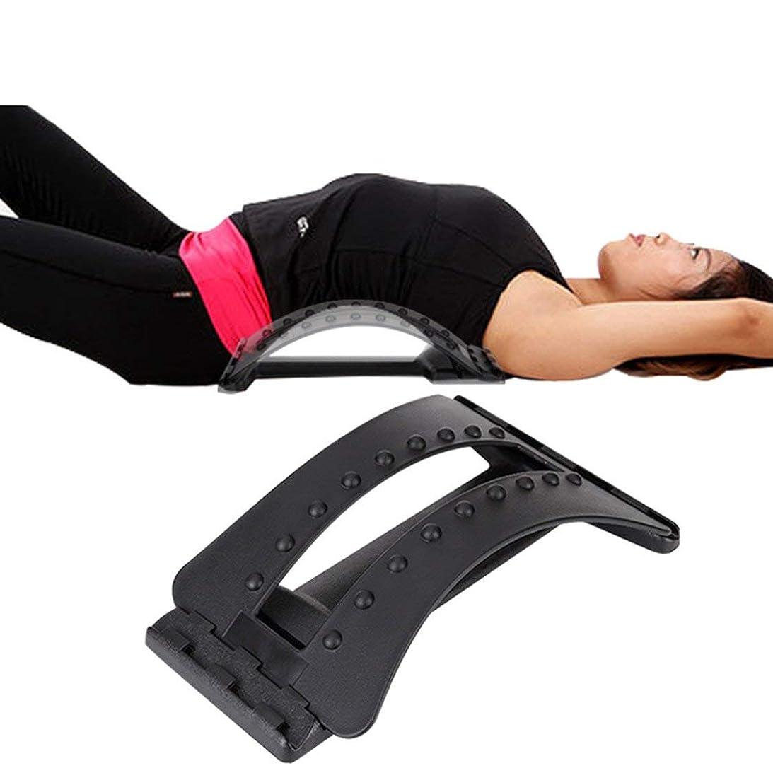 蒸留コンパニオン冷える背骨の痛みを軽減する腰椎牽引ストレッチング装置腰椎リラックスバックマッサージボード防止腰椎椎間板