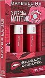 Maybelline New York, SuperStay Matte Ink, Cofre 2 Pintalabios Permanentes Líquidos de Larga Duración, Efecto Mate, Maquillajes Labiales, Tono 150 Path Finder - 2 Unidades, 10 ml