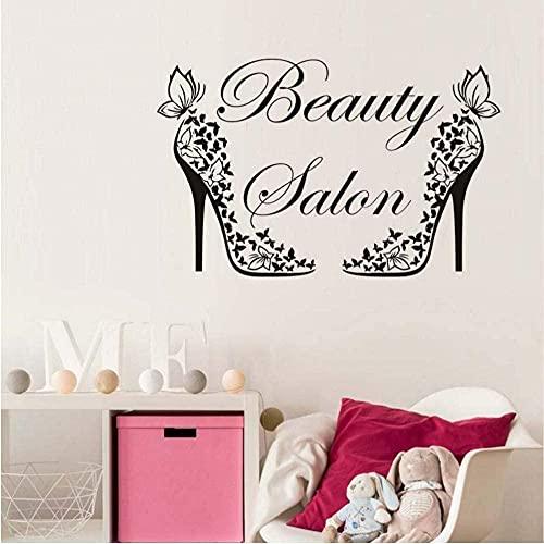 Adhesivo de pared de moda para salón de belleza, calcomanía mural, zapatos...
