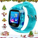 Kinder-Smartwatches, Call-Game-SOS-Kamera-Smartwatch für Jungen und Mädchen, Touchscreen, mit Telefon, Voice-Chat, Kamera, Wecker, Taschenrechner, Musikspiel, Geschenke für Kinder 2020 (hellblau)