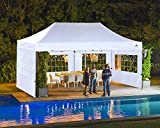ABCCANOPY Outdoor Canopy Tent 10x20 Gazebo Pop Up Party Tent Wedding Instant Shelter with Elegant Church, Bonus Carrying Case/Bag, White