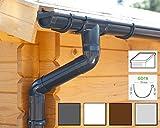 Kit gouttière PVC pour un versant | GD16 | disponible en 4 couleurs | Idéal pour véranda ou chalet de jardin ! (Kit complet jusqu'à 5.25 m, Anthracite)