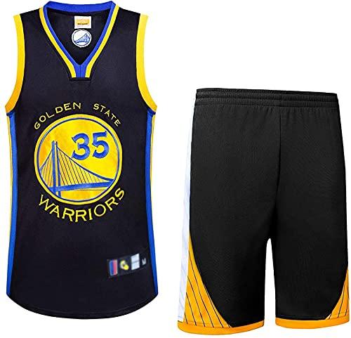 Traje De Baloncesto para Hombre 2 Piezas Camiseta/Chaleco Retro Baloncesto Shorts Verano Jersey Baloncesto Uniforme Camisa Y Pantalones Cortos, Negro, XL, Black - S