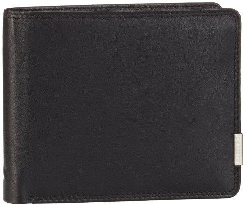 Bodenschatz Unisex-Erwachsene Kings Nappa Portemonnaies, Schwarz (Black), 13x10x3 cm