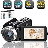 Camcorder Digital Video YouTube Vlogging Camera Recorder Full HD 1080P 30FPS 24.0 MP