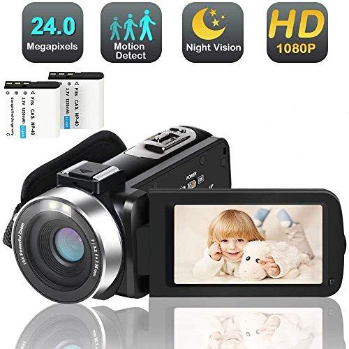 puissant Caméra vidéo numérique Youtube 24MP 2,7 pouces, écran IPS infrarouge de vision nocturne…