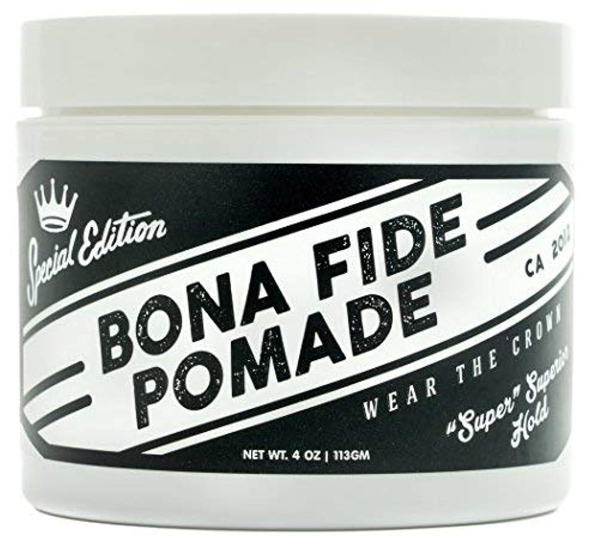 朝自分の力ですべてをする動作Bona Fide Pomade, スーパースーペリアホールドSE, 4OZ (113g)、水性ポマード/ヘアー グリース (整髪料)