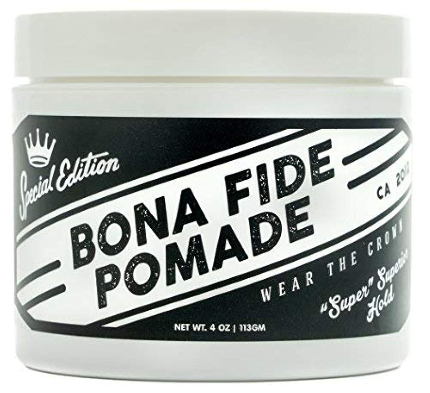 暗くする包囲警官Bona Fide Pomade, スーパースーペリアホールドSE, 4OZ (113g)、水性ポマード/ヘアー グリース (整髪料)