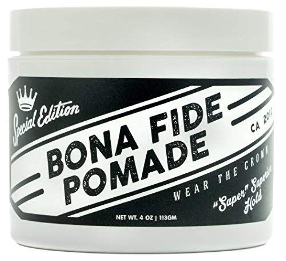 姓瞑想決定するBona Fide Pomade, スーパースーペリアホールドSE, 4OZ (113g)、水性ポマード/ヘアー グリース (整髪料)