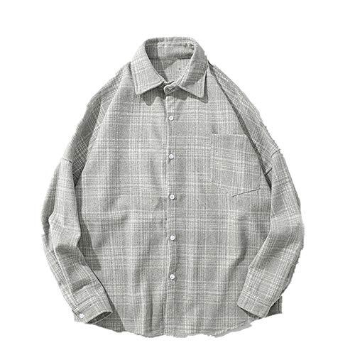 Casual Hombres Camisa Manga Larga Otoño e Invierno Hombres Ropa de Mujer