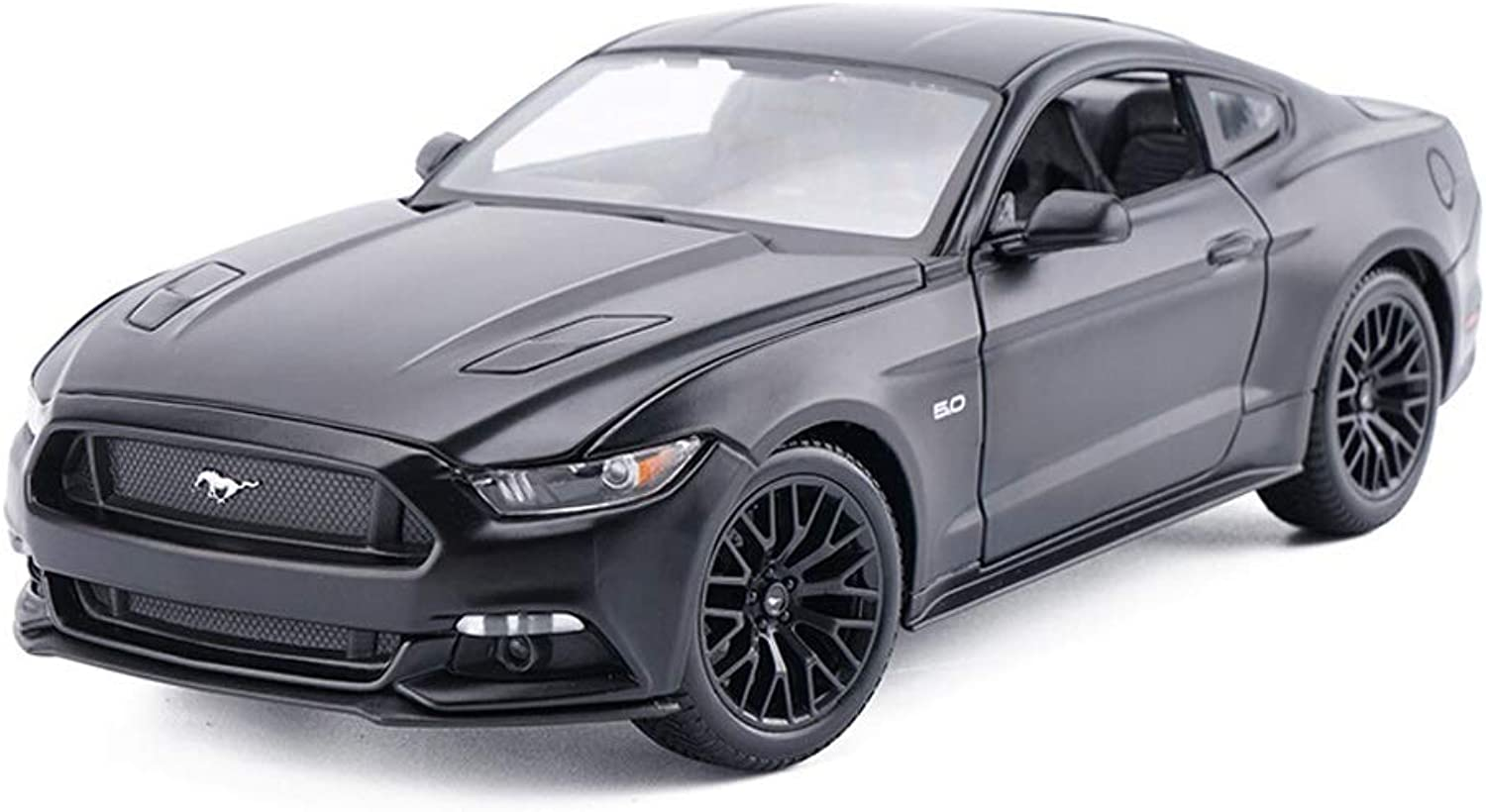 SHLINCar model Alloy Car Die Casting Car Model Ford Mustang Car Model 1 24 Toy Car Model Decoration Gift For Boys Toddlers Kids (color   Black)