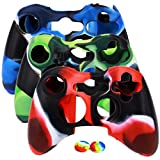 xbox 360 skins for console camo - Soft Silicone Cover Case Camo Skin for Xbox 360 Controller with 4 Thumb Grip Caps(3 Colors)