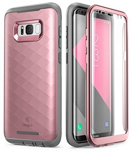 Clayco Samsung Galaxy S8 Plus Hülle [Hera], Ganzkörper Handyhülle Hülle, Robuste Schutzhülle mit Eingebautem Bildschirmschutz für Samsung Galaxy S8 Plus, Rosagold