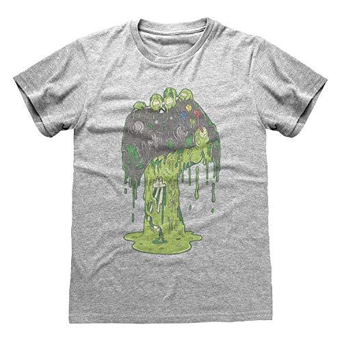 X-Box Zombie Hand Novio Ajuste De La Camiseta De Las Mujeres Cuero Gris M